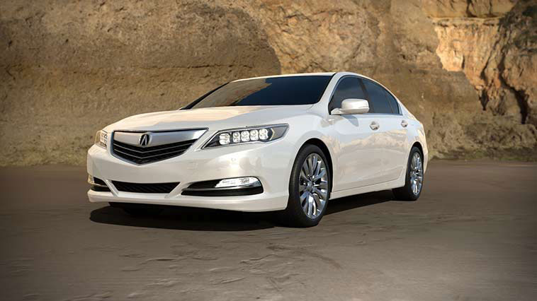 2017 Acura RLX white pearl exterior