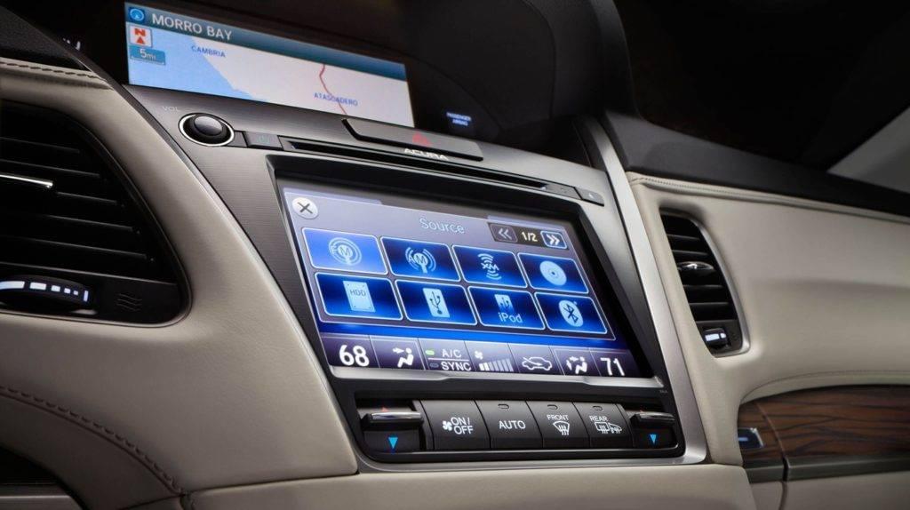 Acura RLX touchscreen
