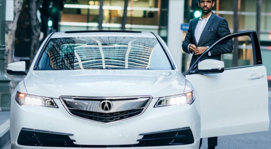 Man gets into Acura