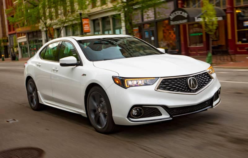 2018 Acura TLX on city road