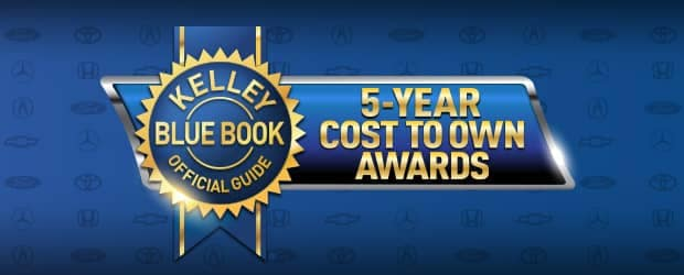 Kelley Blue Book's 5-Year Cost to Own Awards