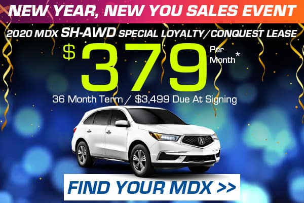 2020 MDX SH-AWD Special Loyalty/Conquest Lease