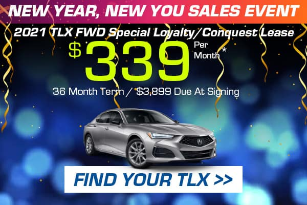 2021 TLX FWD Special Loyalty/Conquest Lease