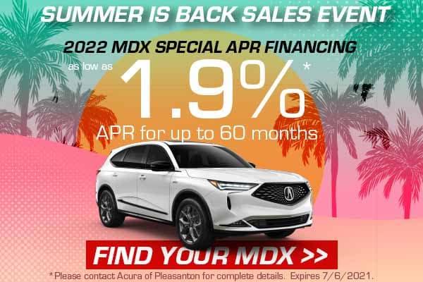 2022 MDX Special APR