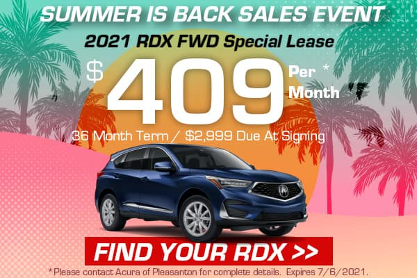 2021 RDX FWD Special Lease
