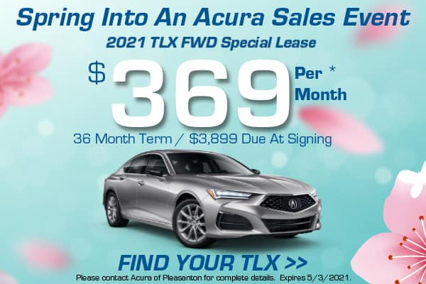 2021 TLX FWD Special Lease
