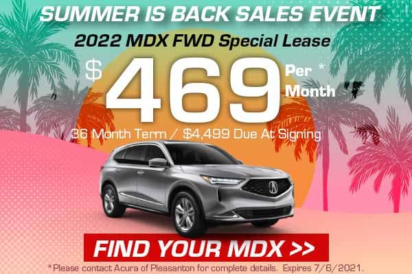 2022 MDX FWD Special Lease