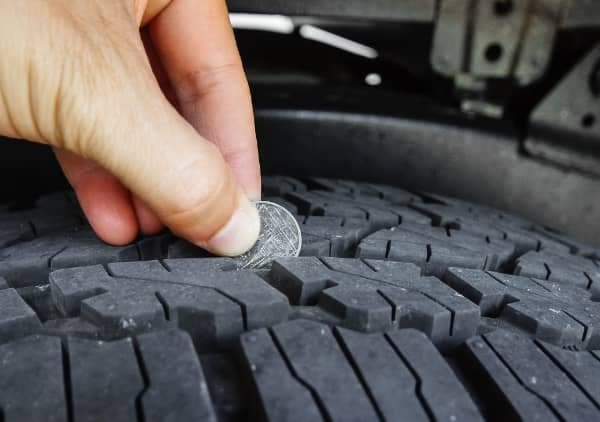 checking tire tread