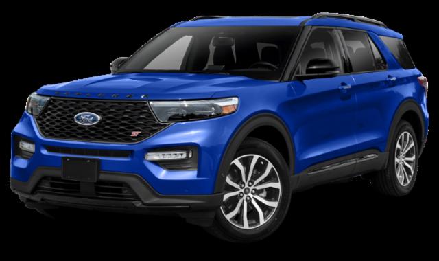 2020 blue ford explorer