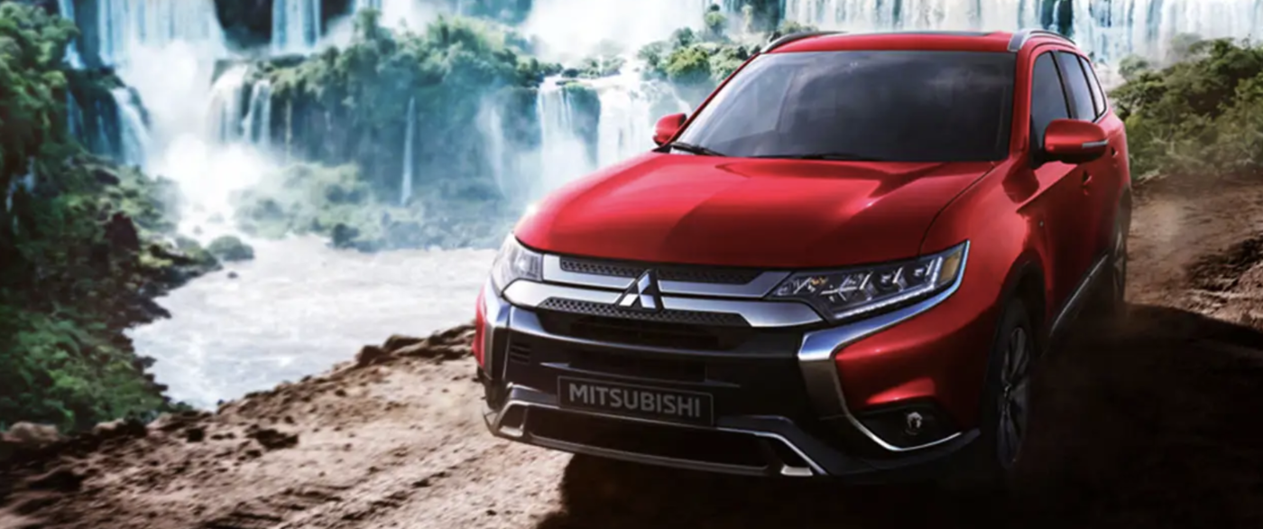 2020 red mitsubishi outlander
