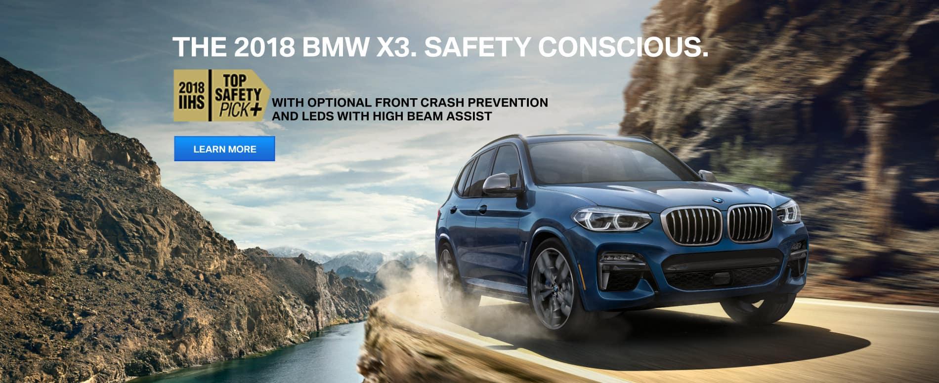 BMW X3 Earns IIHS TOP SAFETY PICK