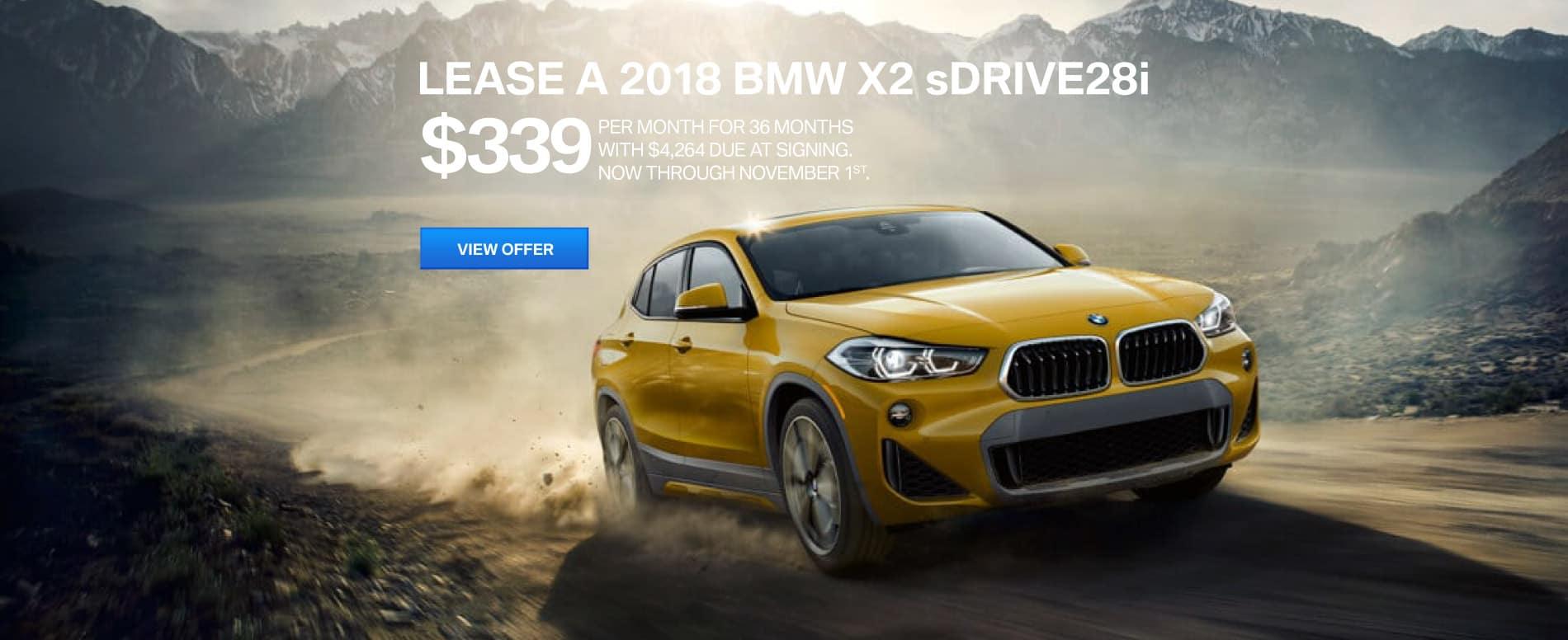 Autobahn BMW X2 Lease   $339
