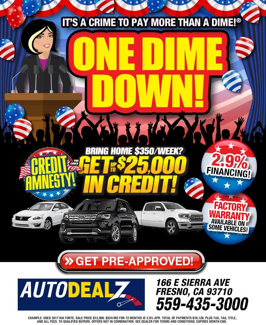 Current Specials at Auto Dealz of Fresno