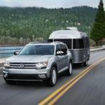 2018 Volkswagen Atlas towing trailer
