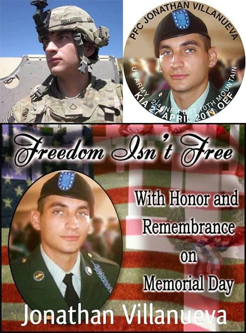 Memorial Day honoring Jonathan M Villanueva