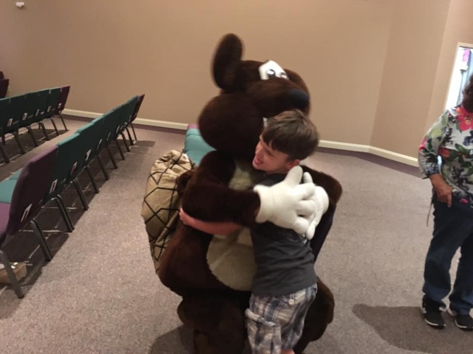 Bucky Beaver at Back to School Events