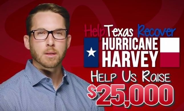 Help Raise $25,000 for Relief for Hurricane Harvey Victims