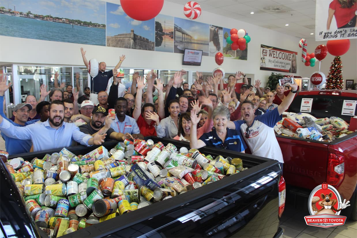 Beaver Toyota of St. Augustine Canned Food Drive