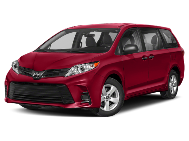 2019 Toyota Sienna L red