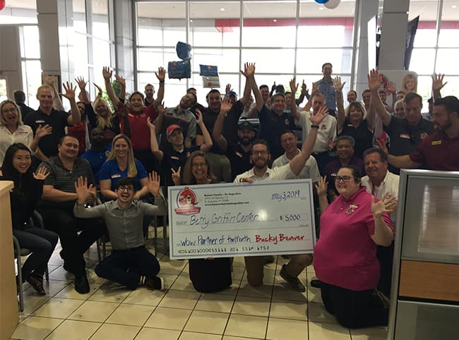 Betty Griffin Check Presentation from Beaver Toyota