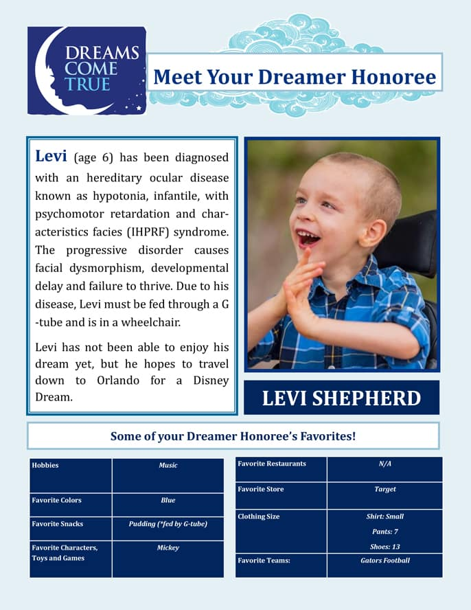 Dreams Come True Levi Shepherd