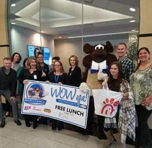 Wow Ya Wednesday free lunch for Jami Gannon & the team from RS&H January 29, 2020