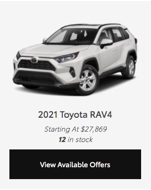 2021 RAV4 offer