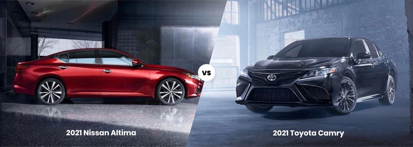 2021 Toyota Camry vs 2021 Nissan Altima comparison