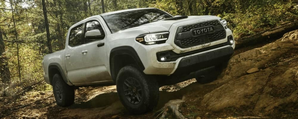 2021 Toyota Tacoma driving in the woods