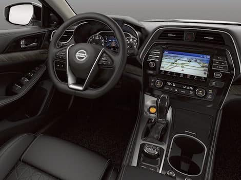 The interior of a Nissan Car