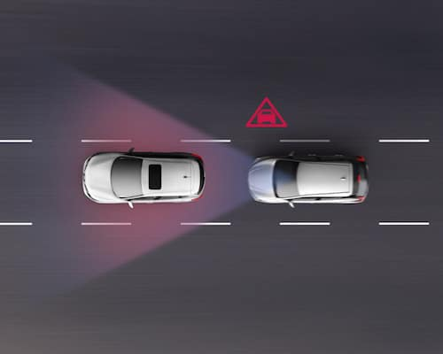 A Nissan Vehicle using auto braking with ProPILOT