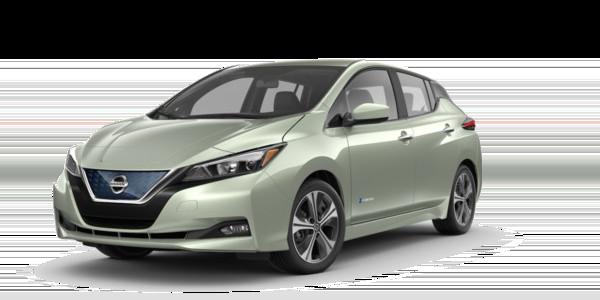 A Jade Frost 2018 Nissan Leaf SV
