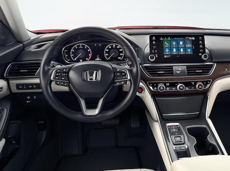 The interior of a Honda vehicle