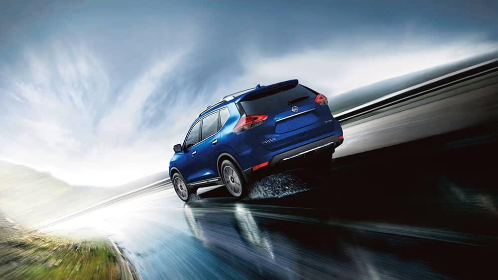 2018 Nissan Rogue sl awd exterior caspian blue original