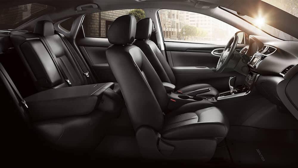 2018 Nissan Sentra folded rear seat