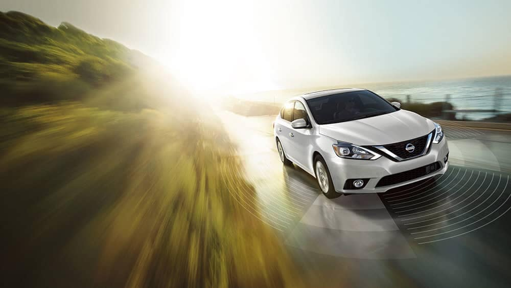 2018 Nissan Sentra white front profile