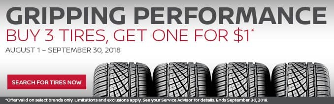 Nissan buy 3 tires promo