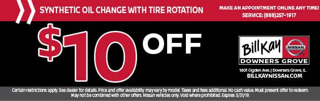Synthetic Oil Change with Tire Rotation Coupon
