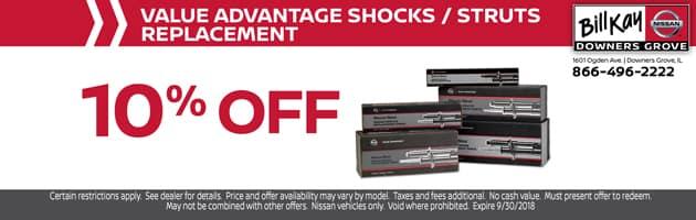 Value Advantage Shocks/Struts Replacement