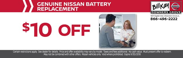 Nissan Battery Replacement Coupon