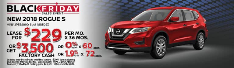 New Nissan Rogue November Special Offer