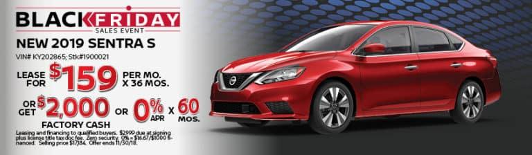 New Nissan Sentra November Lease Offer