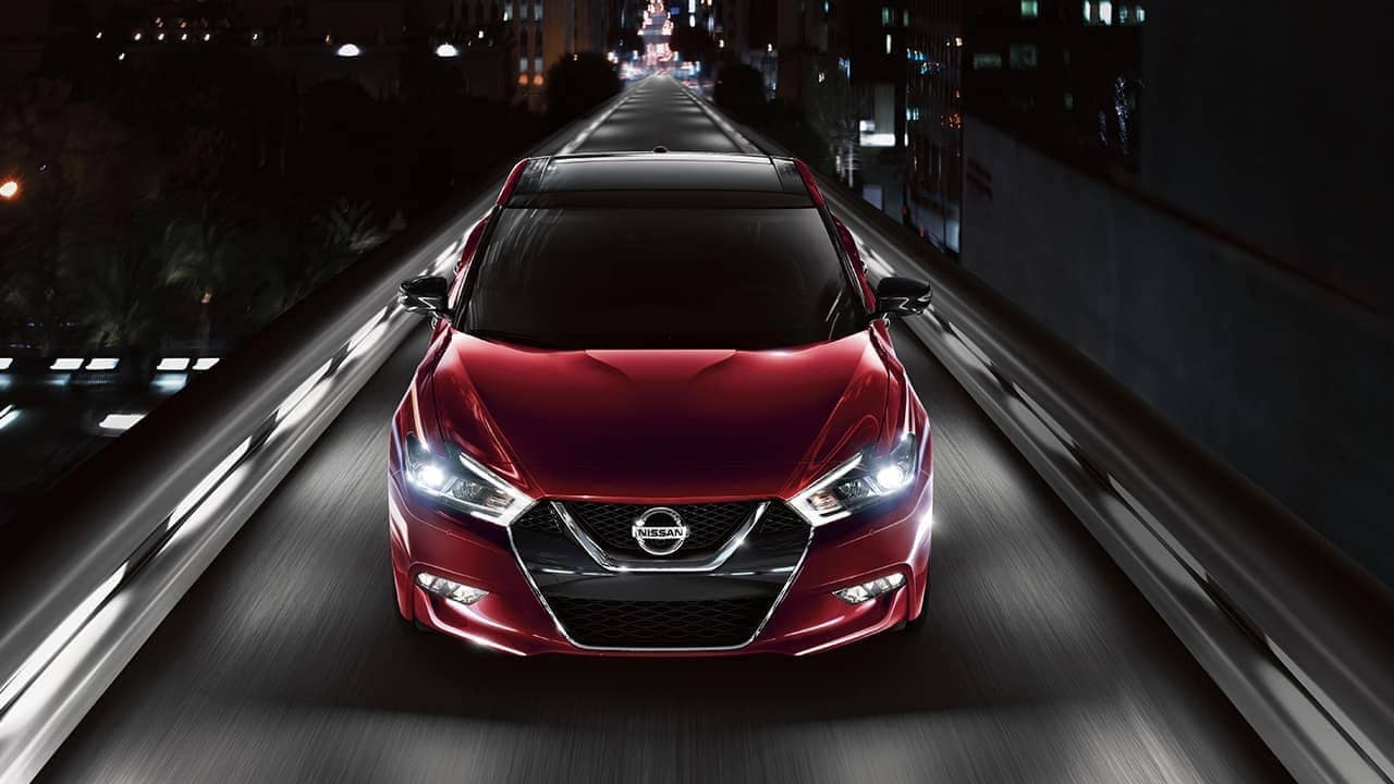 2018 Nissan Maxima at night