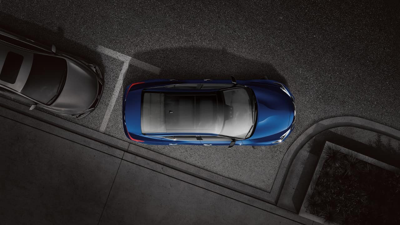 2018 Nissan Maxima from above showing moonroof