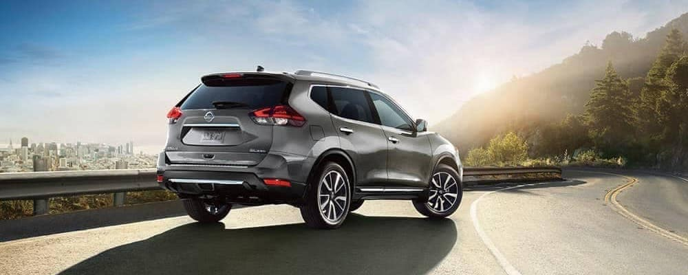 2018 Nissan Rogue SL AWD parked on side of mountain