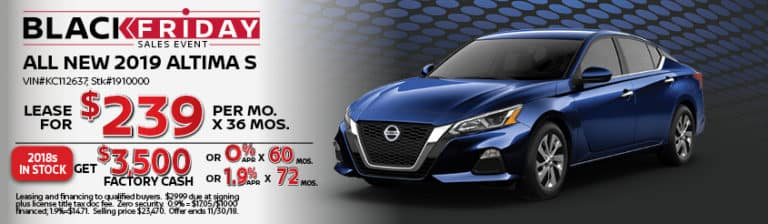New Altima November Special Offer