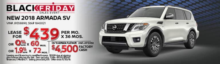 New Nissan Armada November Special Offer