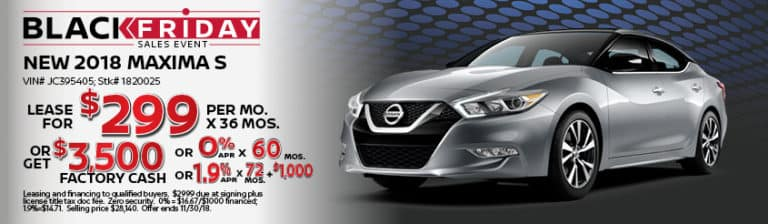 New Nissan Maxima November Special Offer