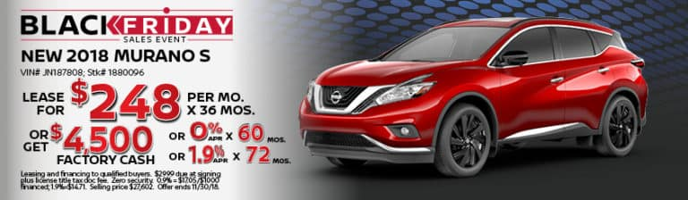 New Nissan Murano November Special Offer