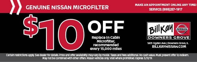 Genuine Nissan MicroFilter Coupon